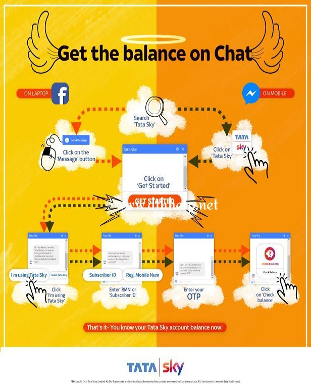 Tata Sky - Get the balance on chat.jpg