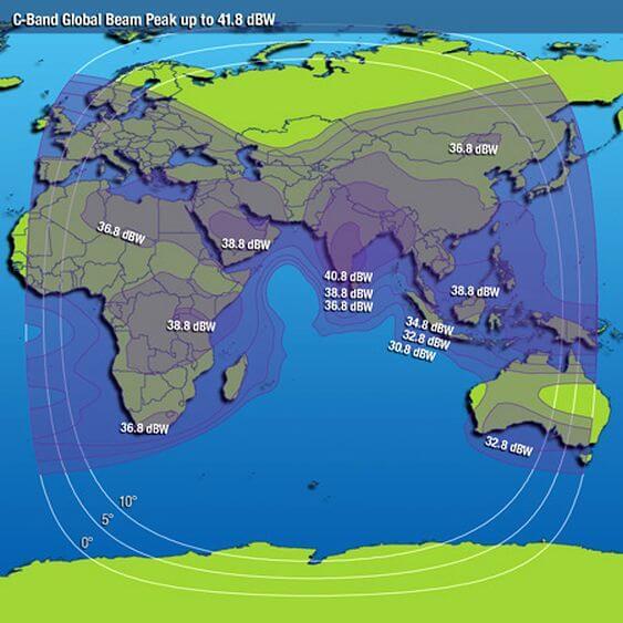 Intelsat 20 coverage map
