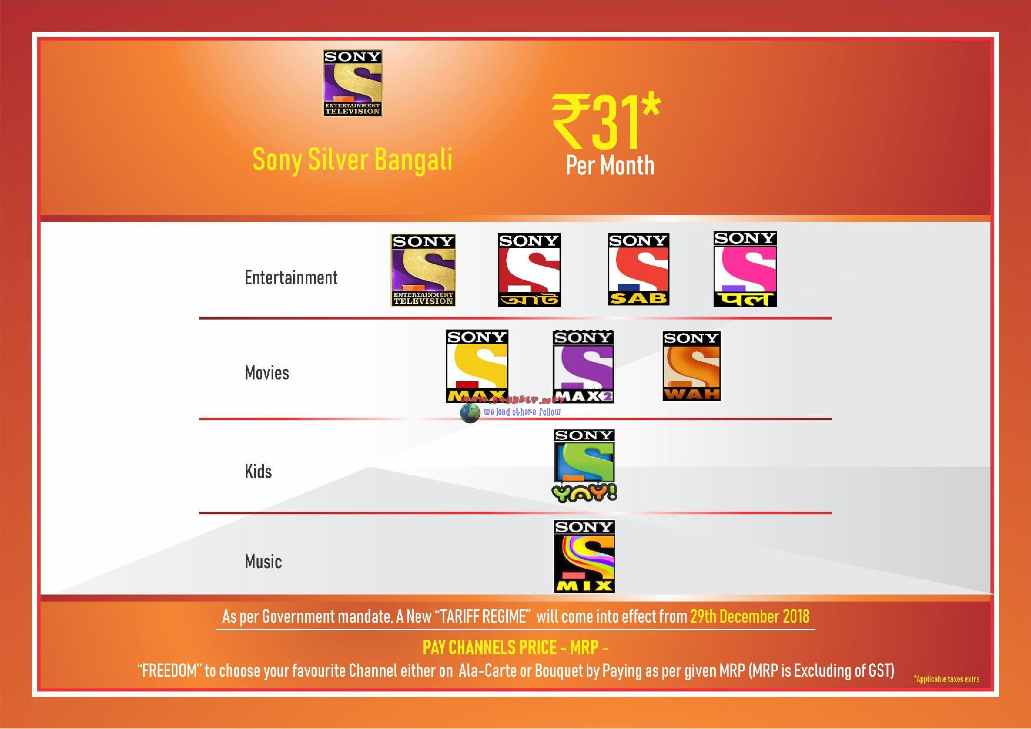 New Sony Happy India pack details, channels and prices | dthhelp for