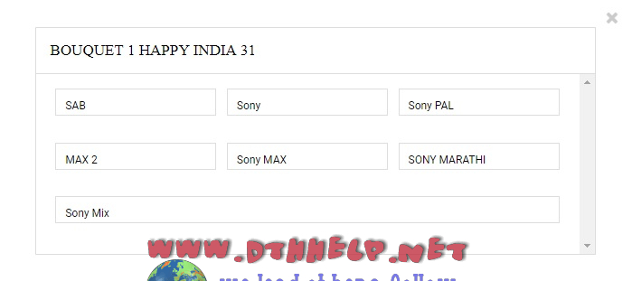 How to activate Sony Happy India pack on Videocon D2H