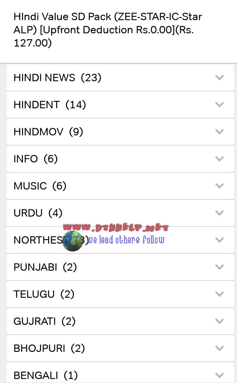 "Airtel digital TV launches ""Dabang"" pack at 280rs per month"