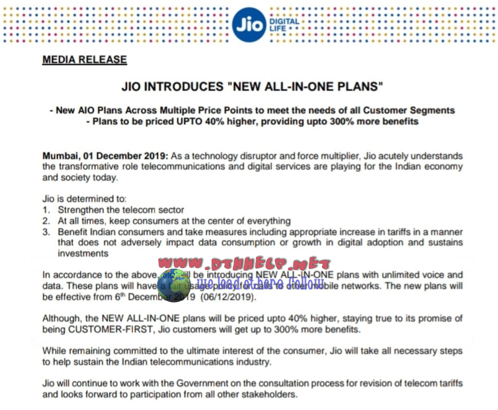 new plans from jio